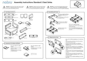Assembly Instructions Standard 2 Seat Sofas - Nabru - Sofas