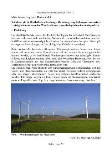 SOMMERHAGE, M. u. H. MAI (2012 ... - NABU Bad Arolsen