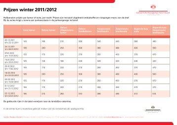 Prijzen winter 2011/2012 - Sandton Hotels
