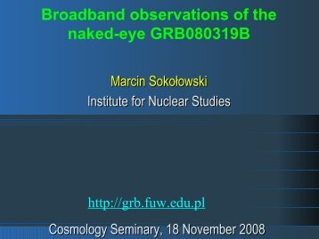 Broadband observations of the naked-eye ... - Pi of the Sky