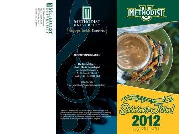 Summer Jam Brochure1-1.indd - Methodist University