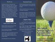 14th Annual Humane Society of Kawartha Lakes Golf Tournament