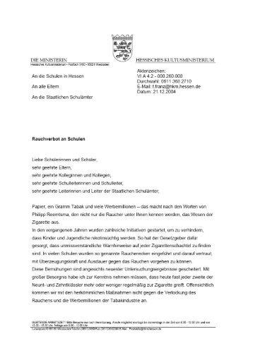 hinweise zum erlass zur rauchfreien schule pdf - Renovierungskosten Hartz 4 Antrag Muster