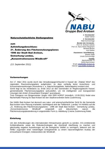 Gruppe Bad Arolsen - NABU Bad Arolsen