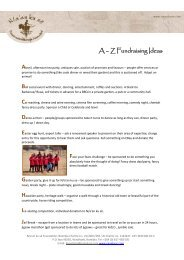 A-Z Of Fundraising Ideas