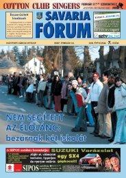 Ésszerûsített kiadások - Savaria Fórum