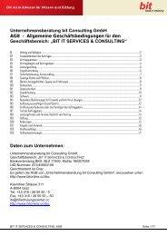 Unternehmensberatung bit Consulting GmbH AGB - Allgemeine ...
