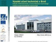 Prezentace - šablony - UTEE - Vysoké učení technické v Brně