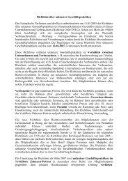Richtlinie über unlautere Geschäftspraktiken veröffentlicht in EDI ...