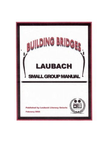 Laubach Small Group Manual - National Adult Literacy Database