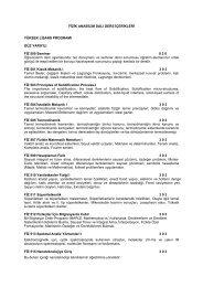 lisansüstü 2013-2014 fizik bölümü ders içerikleri