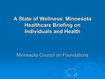 Download Health and Healing Presentation (PDF) - Minnesota ...