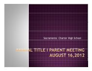 Title I presentation - Sacramento Charter High School