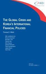 the global crisis and korea's international financial policies