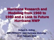 Hurricane research from the 1960s to the 1980s and a look toward ...