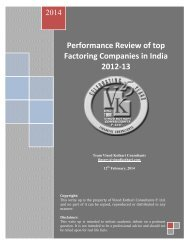 Performance review of top factoring companies in India_2012-13