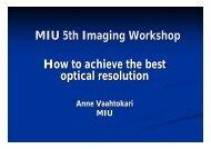 Lecture 1. Resolution (pdf) - Biomedicum Imaging Unit (BIU)