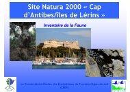 Diaporama du CEN PACA - Antibes Juan-les-Pins