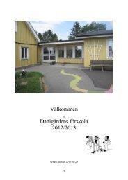 Välkommen Dahlgårdens förskola 2012/2013 - Buf - Kristianstad