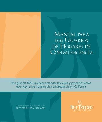 manual para los usuarios de hogares de convalencencia - Bet Tzedek