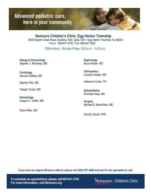 Nemours Children's Clinic, Egg Harbor Township