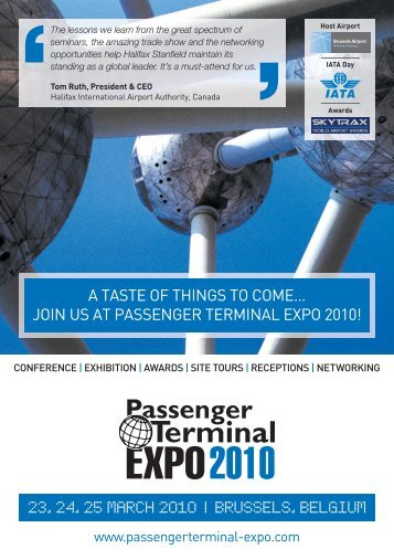 a taste of things to come… join us at passenger terminal expo 2010!