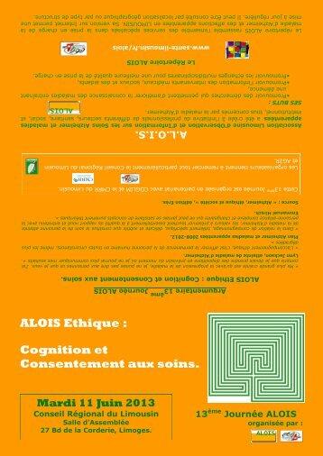 ALOIS Ethique : Cognition et Consentement aux soins. - Santé en ...
