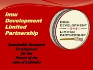Booming Labrador!: Innu Business Development Initiatives - NEIA