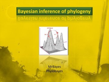 Bayesian inference of phylogeny
