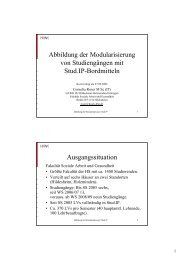 Abbildung der Modularisierung von Studiengängen mit Stud.IP ...