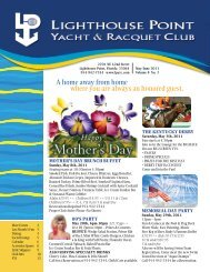 May/June 2011 - Lighthouse Point Yacht and Racquet Club