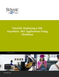 Deploying a SQL Anywhere .NET Application Using ... - Sybase