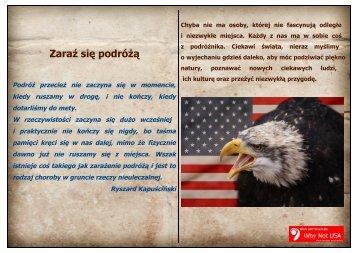 Zaraź się podróżą - Why Not USA