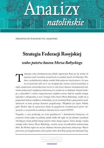 Strategia Federacji Rosyjskiej wobec państw basenu Morza