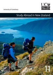 Study Abroad in New Zealand - University of Canterbury