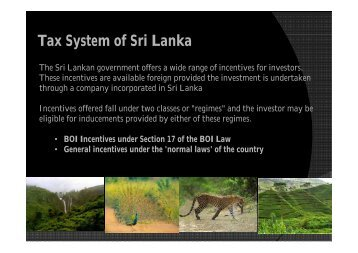 Tax System of Sri Lanka - LIAA