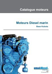 Moteurs Diesel marin Catalogue moteurs - Nanni Industries