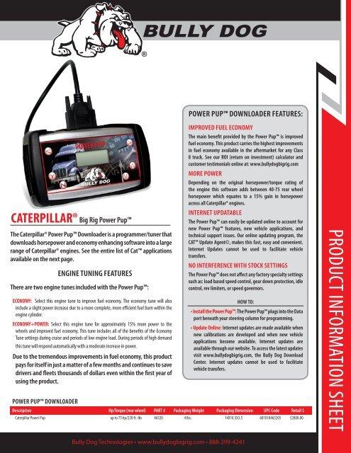 Information Sheet - Bully Dog Semi-Truck