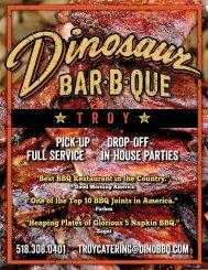 Catering Menu - Dinosaur Bar-B-Que