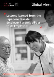 July 2011 Global Alert: Lessons learnt from the ... - Ius Laboris