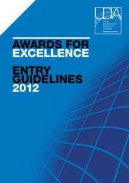 AwArds for ExcEllEncE EnTrY GUIdElInEs 2012 - UDIA