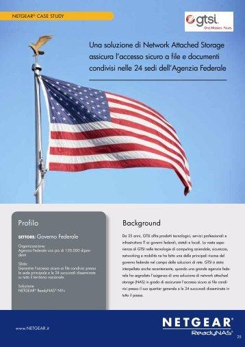 Agenzia Federale Statunitense si affida ai sistema di ... - Netgear