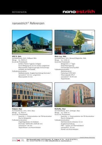 nanoestrich® Referenzen