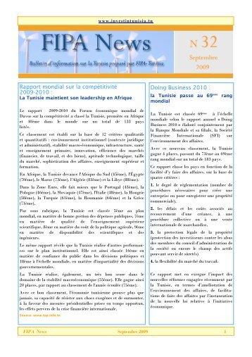 Rapport mondial sur la compétitivité 2009-2010 : Doing Business ...