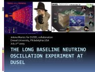 the long baseline neutrino oscillation experiment at dusel - TAUP 2009