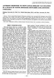 Antibody response to Newcastle disease vaccination ... - Nwrc.gov.sa