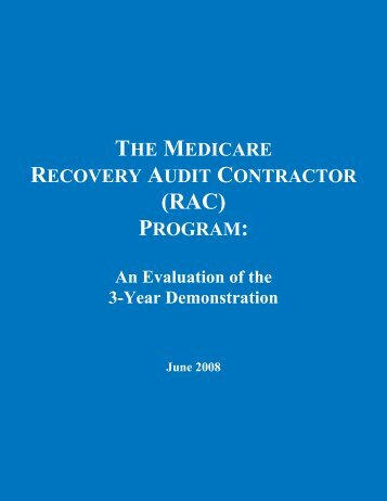 2008 Summary Status Report - RAC Audit Defense