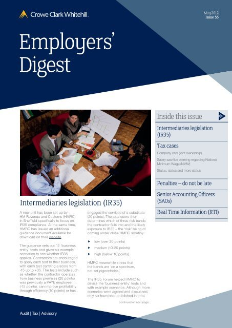 Employers' Digest May 2012 - Crowe Horwath International