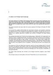 Press information - JP Weber