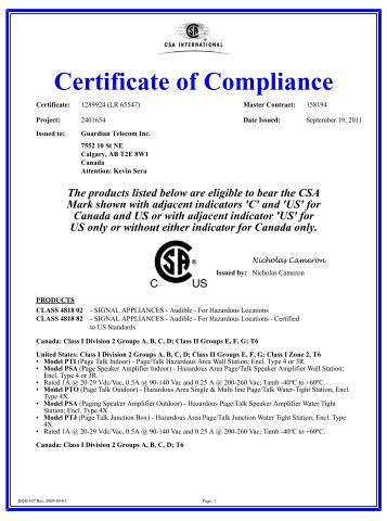 Certificate of compliance pmv positioners for Certificate of compliance form template